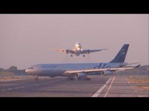 Deux avions un 767- 300 évitent le crash à Barcelone – YouTube