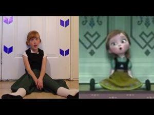Je voudrais un bonhomme de neige – La reine des neige dans la vrai vie avec la petite anna – YouTube