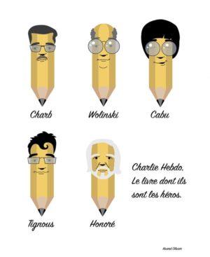 Piquesel sur Twitter : «#JeSuisCharlie #charliehebdo Nouvelle réalisation en hommage à Charlie Hebdo. http://t.co/4l1PriHihm»