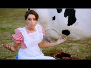 Aubrey Plaza Prepares America for Newcastle's Band of Brands Ad superbowl pub- YouTube