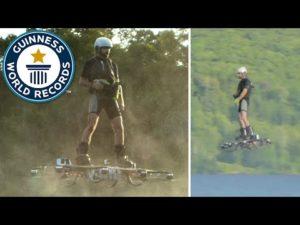 Record du monde de vol en hoverboard YouTube