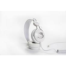 Casque audio Hello Kitty blanc Le modèle de casque audio peut être utilisé avec des platines