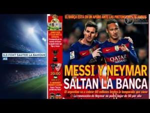 Messi et Neymar mettent en danger l'avenir économique du Barça – YouTube