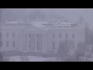 Snowzilla arrive sur la maison blanche the White House – YouTube