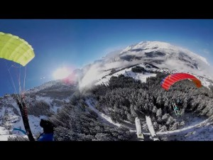 Saut en parapente à 360° avec la caméra Samsung Gear 360 – YouTube
