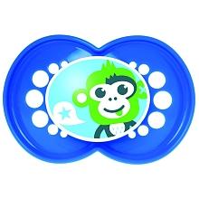 toys' r us 2 sucettes MAM silicone 18 mois et plus + boîte stérilisable - singe et requin
