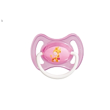 toys' r us 2 sucettes MAM anatomiques 2ème âge avec anneau roses