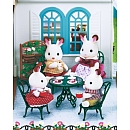 Nouveau set d'extérieur comprenant 1 table ronde et 4 chaises Sylvanian My Little Poney et autres mini univers / Sylvanian Families