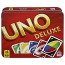 La version de luxe du Uno contient un carnet de scores et un sabot de distribution
