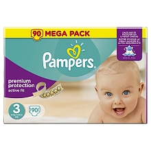 toys' r us Couches Pampers Mega Active Fit T3 - 90 couches