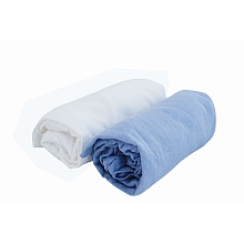 toys' r us 2 draps housse 60 x 120 cm blanc/bleu