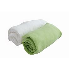 2 draps housse 70 x 140 cm blanc vert chez toys 39 r us pin for Chambre poussin toys r us