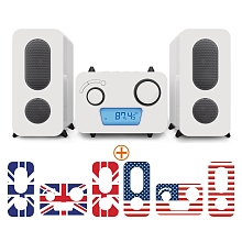 toys' r us Big Ben - Micro Chaîne Radio/CD/MP3/USB - UK & US
