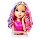 Tête à coiffer Moxie Girlz Sophina avec de superbes longs cheveux à coiffer ou à colorer selon tes envies. Tu peux aussi lui vernir les ongles ! Produits utilisables sur toi aussi. Accessoires : 1 brosse