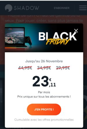 Shadow PC, Pc gamer dans le cloud a 30€/mois