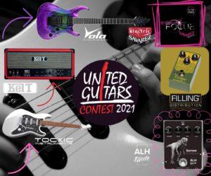 Concours de guitare électrique – United Guitars Contest 2021, pleins de prix à gagner