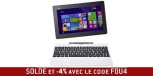 Soldes ASUS Transformer book T100 blanc 287 € tablette PC équipée de Windows 8.1 #SOLDES @asus