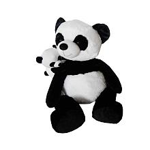 Animal Alley - Peluche Maman et bébé - Panda - 55 cm Adorable maman Panda en position assise avec son petit bébé Panda.La Peluche mesure 55 cm de hauteur.Lavable en machine.A partir de 12 mois.
