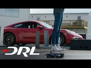 Course de drone de la DRL Racer 1 contre une Porsche 911 | Drone Racing League – YouTube
