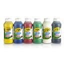 6 Bouteilles de peinture lavable CRAYOLA de 250 ml. Utilisée seule ou mélangée à d'autres couleurs