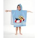 Cape de bain Les Minions conçue pour maintenir votre enfant bien au chaud.Dimensions :60 x 120 cm.Composition :100% coton.L'accessoire idéal pour votre enfant qui sera fier de porter les couleurs de son héros préféré en sortant du bain. Vêtements et accessoires / Serviette de plage et cape de bain