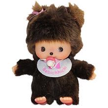 toys' r us Bebichhichi - Fille marron en Barboteuse rose - 12 cm